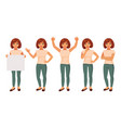 set of girls in different poses vector image