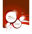 Red background with circles vector image