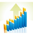 3d business graph vector image vector image