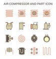 air compressor and part icon set design editable vector image