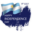 argentina independence day background vector image vector image