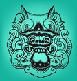 Balinese artwork barong vector image
