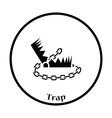 Bear hunting trap icon vector image