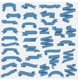 blue web ribbon big set with transparent vector image vector image