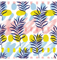 botanical seamless modern pattern vector image