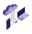 cloud computing with smartphone and computer vector image vector image