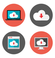 Cloud Services Flat Icons Set vector image