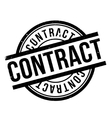 Contract rubber stamp vector image