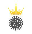 coronavirus sign covin-2019 icon in flat style vector image