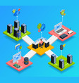 data center isometric composition vector image vector image