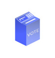 electronic ballot box icon isolated on white vector image vector image