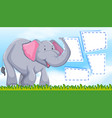 elephant on note template vector image vector image