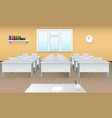 empty school classroom realistic classroom vector image