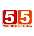 Fifty Five 55 Years Anniversary Label Sign for vector image vector image