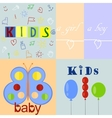 five different baby logos and backgrounds vector image