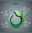 grass 3d icon health infographic vector image