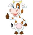 Happy cow giving thumb up isolated on transparent vector image vector image