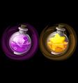 jars potions or elixir vector image