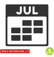 July Calendar Grid Eps Icon vector image vector image