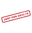 Just For Adults Text Rubber Stamp vector image vector image