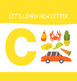 lets learn new letter a educational game vector image vector image