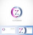 Letter Z cirlce logo vector image