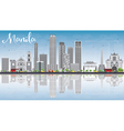 Manila Skyline with Gray Buildings Blue Sky vector image