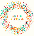 music festival notes background round frame vector image
