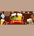 oktoberfest beer festival poster banner vector image vector image
