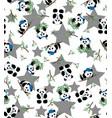 panda bamboo print eps 10 vector image