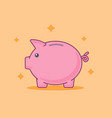 piggy bank banking concept flat style vector image