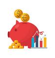 piggy bank stock market vector image