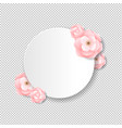 pink flowers postcard transparent background vector image