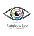 rainbow eye circle eyeball symbol vector image vector image