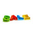 sale isolated on white vector image vector image