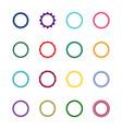 set 16 round decorative frames vector image