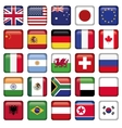 set flags world top states vector image vector image