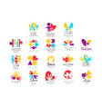 set multi-colored logo for autism vector image