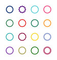 set of 16 round decorative frames vector image