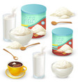 set of color of whole milk vector image
