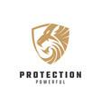 shield lion logo template