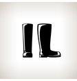 Silhouette Working Rubber Boots vector image