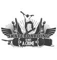 Skateboarding Black Poster vector image