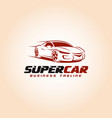 super car logo template vector image vector image