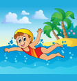 swimming theme image 2 vector image vector image