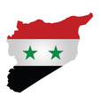 Syrian Flag vector image vector image