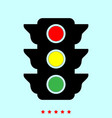 traffic light it is icon vector image
