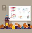 tribune speech speaking large audiences global vector image