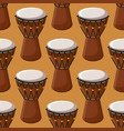 turkish or african traditional drums seamless vector image vector image