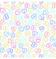 valentines day color candy heart seamless pattern vector image
